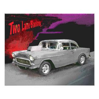 Foto Impressão do carro do filme do Blacktop de duas