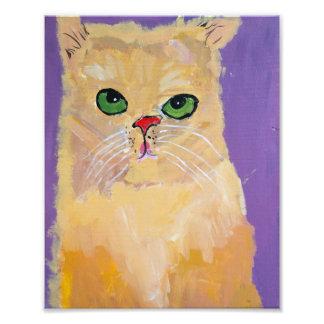 Foto impressão do gato do gengibre 8x10