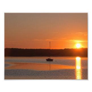 Foto Impressão do por do sol 8x10 do veleiro do rio de