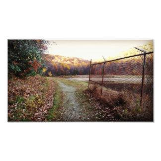 Foto Impressão do reservatório do outono