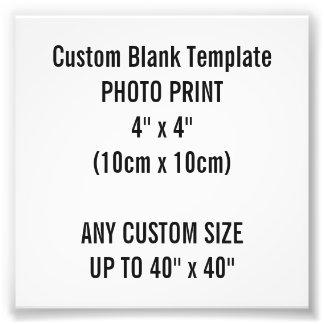 """Foto Impressão feito sob encomenda 4"""" x 4"""" modelo do"""