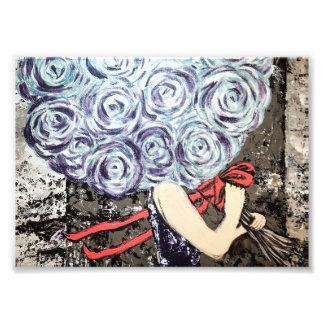 Foto Impressão floral abstrato dos trabalhos de arte