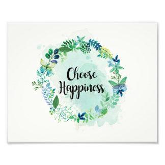 Foto Impressão floral das citações, aguarela inspirada