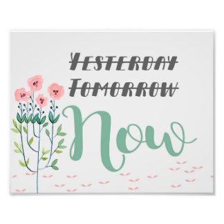 Foto Impressão floral das citações, citações inspiradas
