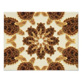 Foto Impressão Kaleidoscopic da tartaruga de mar da