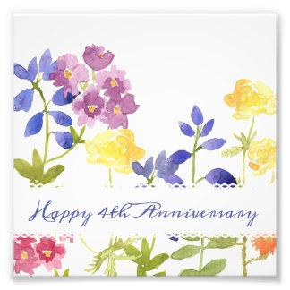 Foto Impressão personalizado floral colorido da arte da