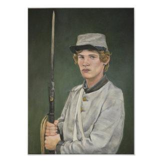 Foto Impressão rebelde da arte do retrato da guerra