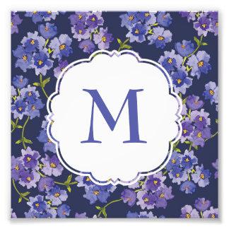 Foto Impressão roxo personalizado da arte da flor do