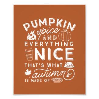Foto Impressão tipográfico da arte do outono da