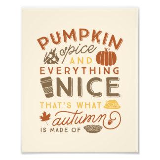 Foto Impressão tipográfico da arte do outono da queda