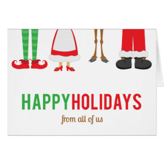 Foto incorporada do cartão do feriado dos pés do