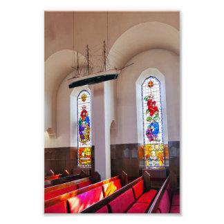 Foto Interior da igreja de Akureyri, Islândia