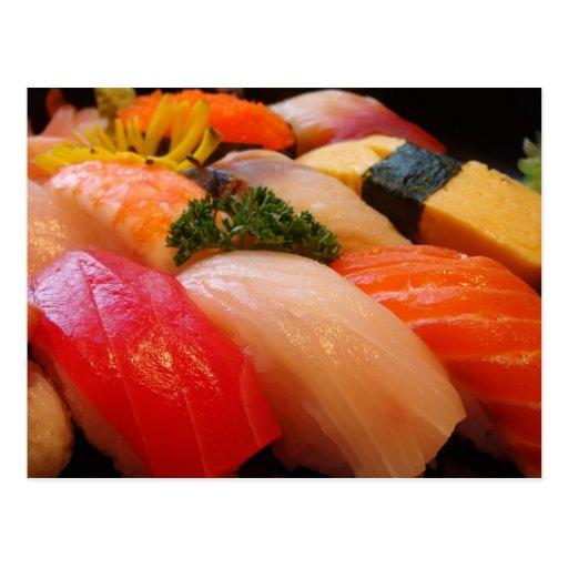 Foto japonesa de Japão do hipster do sashimi do ro Cartão Postal