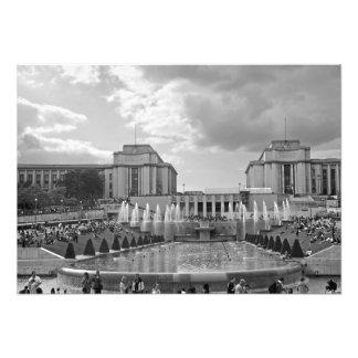 Foto Jardins e o quadrado de Trocadero
