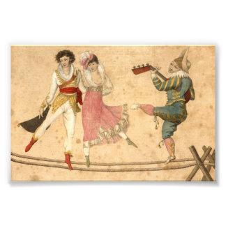 Foto Jovens que dançam e que cantam, desenho do vintage