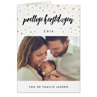 Foto kerstkaarten | Gouden Sterren Cartão Comemorativo