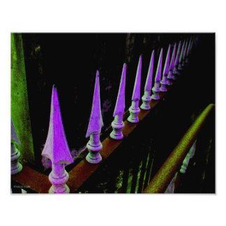 """Foto """"lanceada"""" do cemitério de Nova Orleães Impressão De Foto"""