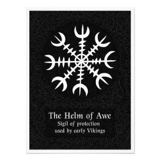 Foto Leme do sinal mágico islandês do incrédulo - preto
