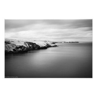 Foto litoral infravermelho de galês