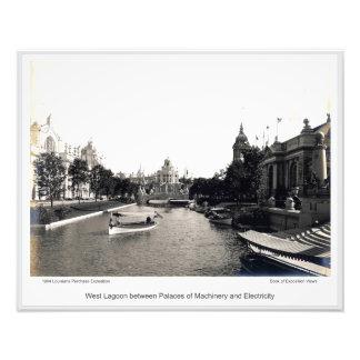 Foto LPE03 - Lagoa ocidental entre palácios