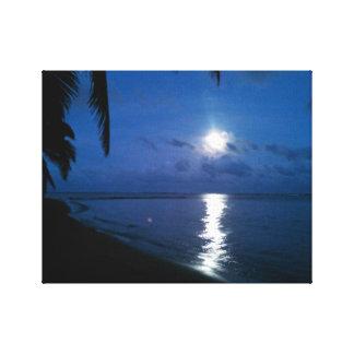 Foto-Lua do  da arte sobre Molokai