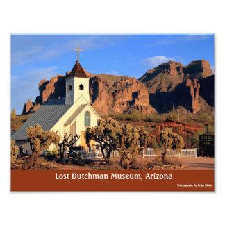 Foto lustrosa perdida da arizona 8x10 do museu do