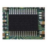 Foto macro do componente do conselho de circuito cartao postal