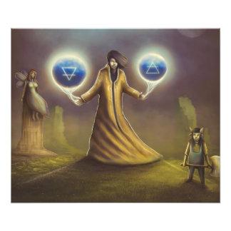 Foto mágica da fantasia do feiticeiro