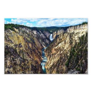 Foto Mais baixas quedas de Yellowstone, parque nacional