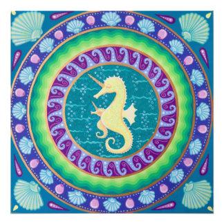Foto Mandala mágica do cavalo marinho do unicórnio