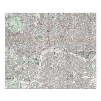 Foto Mapa do vintage da cidade de Londres