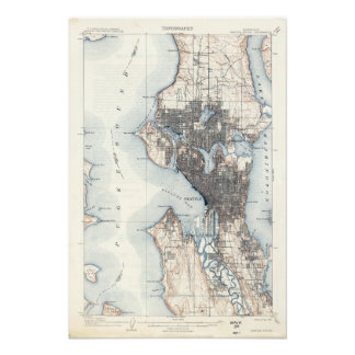 Foto Mapa do vintage de Seattle Washington