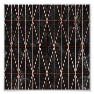 Foto Mármore cor-de-rosa do preto do ouro dos