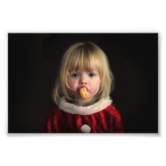 Foto Menina do Natal - criança do Natal - menina bonito