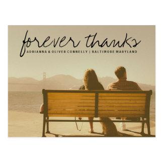 Foto moderna do casal dos obrigados | do Forever Cartão Postal