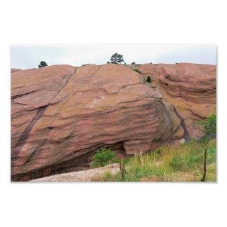 Foto Monólito do arenito vermelho em rochas vermelhas