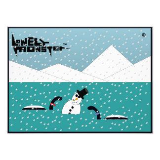 Foto Monstro do solitário do boneco de neve