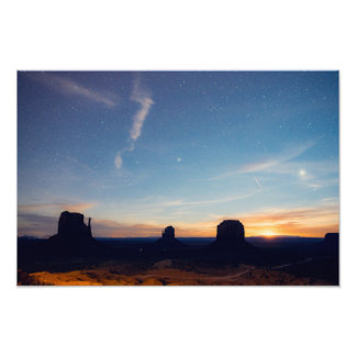 Foto Moonrise do vale do monumento