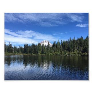 Foto Mt. Capa e lago mirror em Oregon