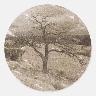 Foto muito envelhecida adesivo em formato redondo