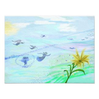 Foto Musicplane da pintura do impressão da arte