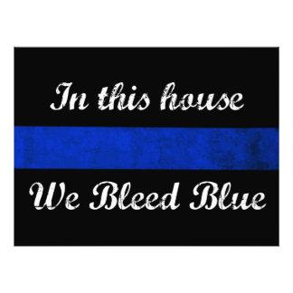 Foto Nesta casa nós sangramos o azul