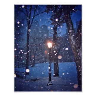 Foto Neve que roda em torno de um revérbero