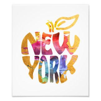 Foto New York Apple grande NYC. Arte da caligrafia da