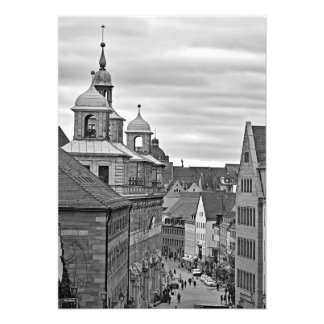 Foto Nuremberg. O Rathausplatz e a câmara municipal
