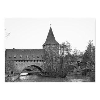 Foto Nuremberg. Ponte de suspensão Kettensteg