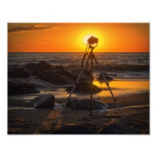 Foto O escritório do fotógrafo na praia