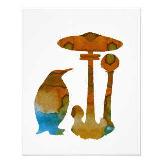 Foto O pinguim e o cogumelo