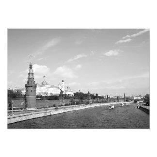 Foto O rio de Moscovo e a terraplenagem de Kremlin