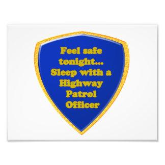 Foto Oficial de patrulha da estrada